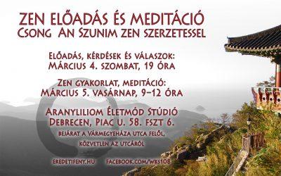 Dharma beszéd és gyakorlat Debrecenben – 2017 március 4-5.